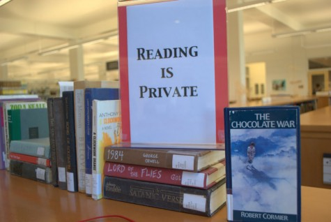 The Nicholson Library honors Banned Books Week with a display from Sept. 24 through Oct. 1. Bridgette Gigear/For the Review