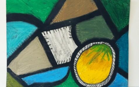 Abstract art captivates student's imagination
