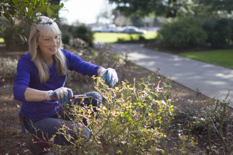 Gardener loves her job, students, Linfield