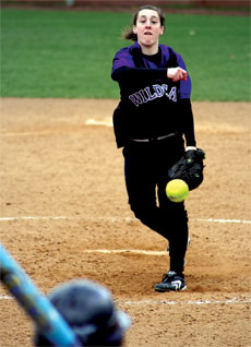 Softball goes 12 innings for first win of the season