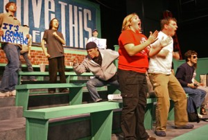Linfield theater hits home stretch with 'Bleacher Bums'