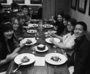 "Linfield students attend a ""Taste of"" event at Recipe, a Neighborhood Kitchen in Newberg, Ore. Photo courtesy of Megan Bahrt"