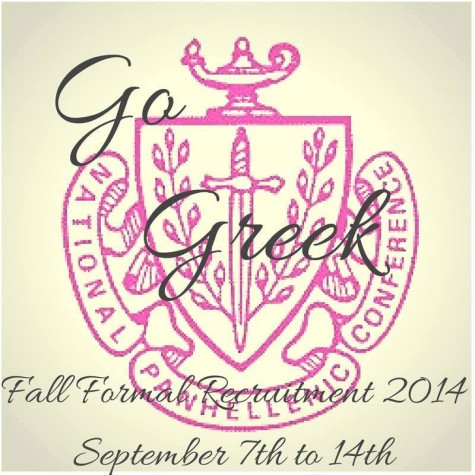 The 2014 Fall Formal Recruitment logo for Linfield College.