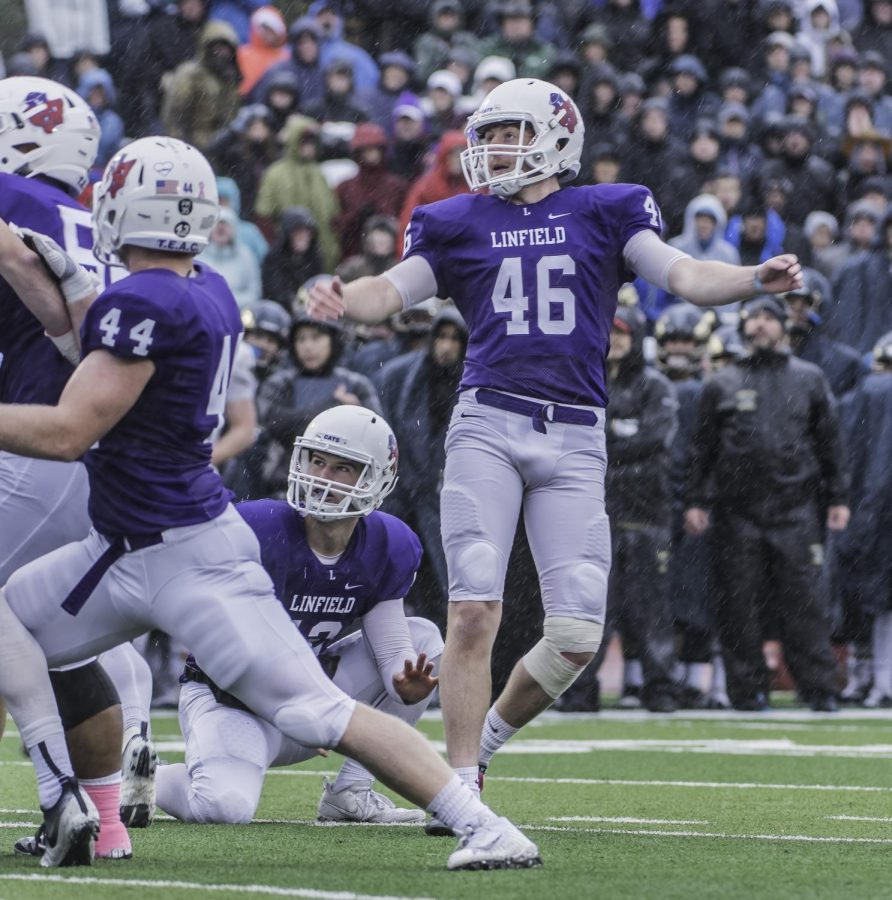 Willy Warne, 46, was the only member of the team to score points for the Wildcats. Warne was also the first to put points on the board in the second quarter with a 32- yard field goal putting the Wildcats in the lead.