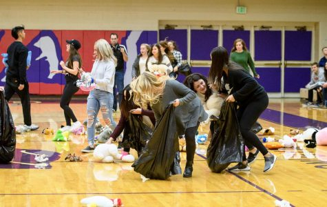 Phi Sigma Sigma throws teddy bears