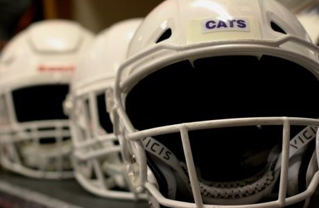 The VICIS ZERO1 is just one of the helmets Linfield football players have to choose from. There are only 6 VICIS available, but Coach Smith and Vaughan hope to add more to their inventory