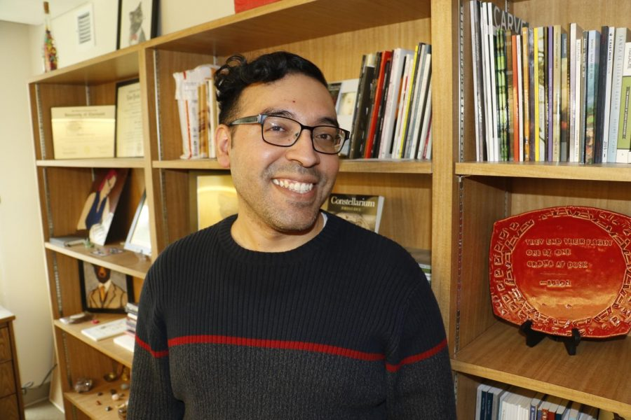 Jose Araguz, the faculty advisior for Linfield's literary magazine Camus, also manages his own personal blog called