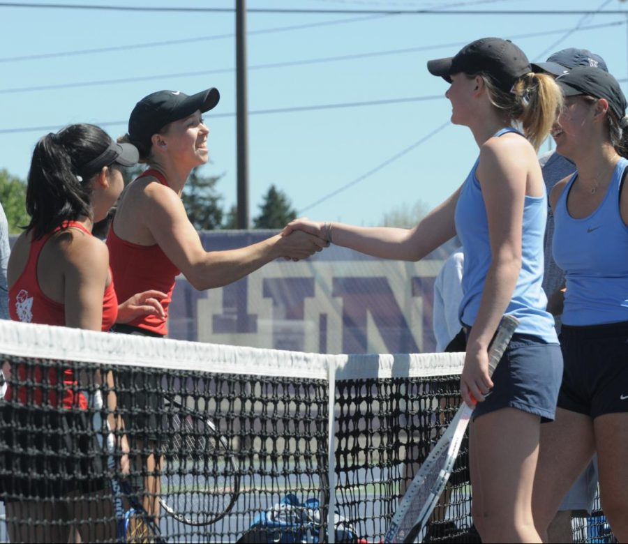 Women's tennis nail biting NWC Championships