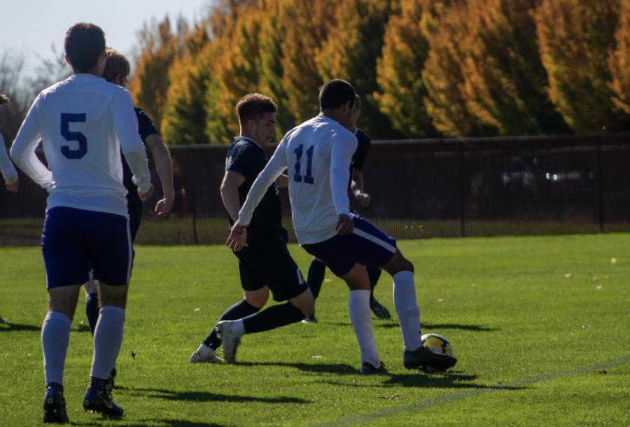 Gerardo Perez releasing the ball down the sideline