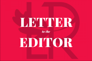Red Letter to the Editor graphic over TLR logo