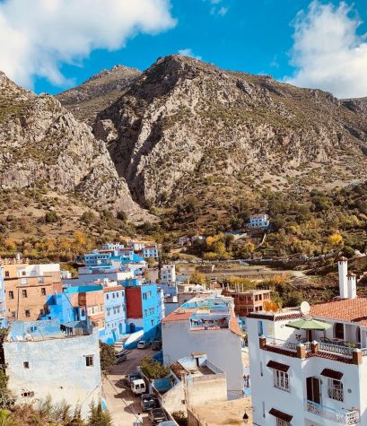 Linfield study abroad takes students all over the world, such as Chefchaouen, Morocco.