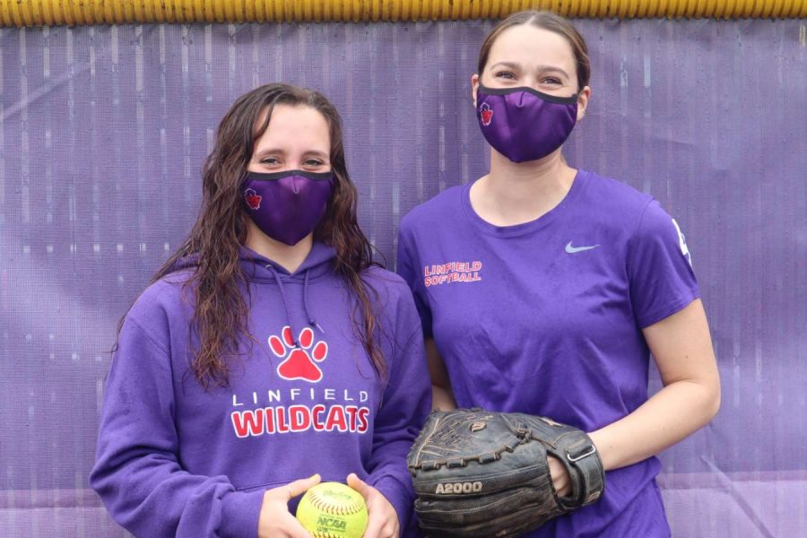 Softball's Kira Sneddon and Lydia Goss