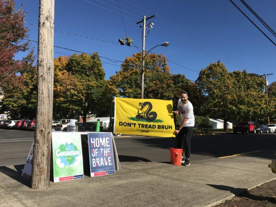 Turning Point representative sparks debate on Linfield sidewalks