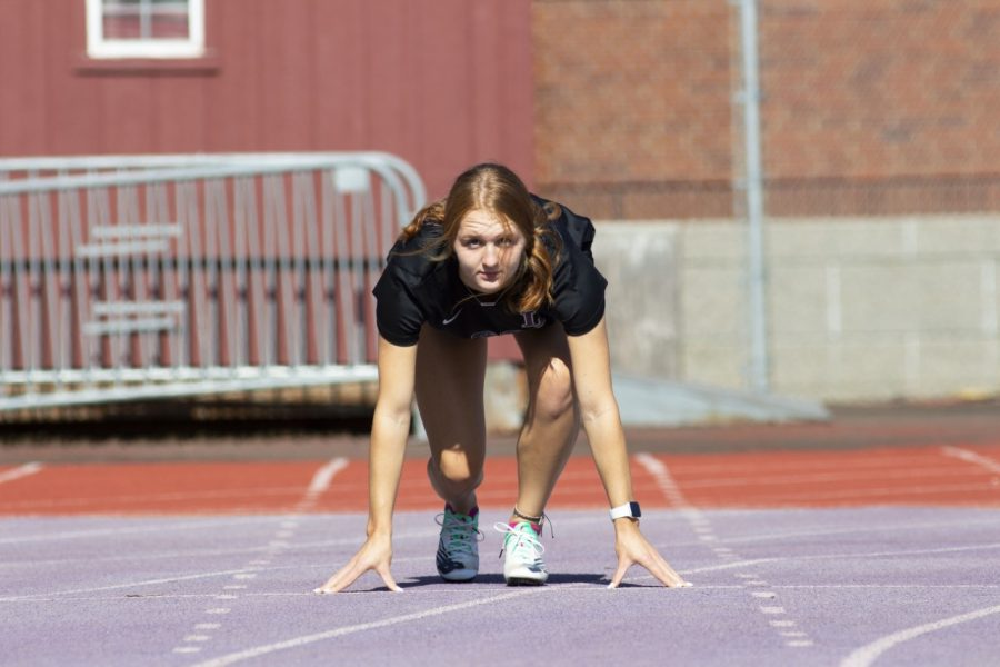 Addison Klindt, member of women's soccer and track and field.