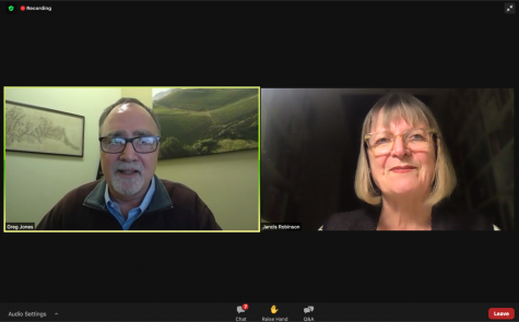 Jancis Robinson, MW joined Gregory Jones for the Linfield Wine Lecture Series via Zoom Wednesday morning.