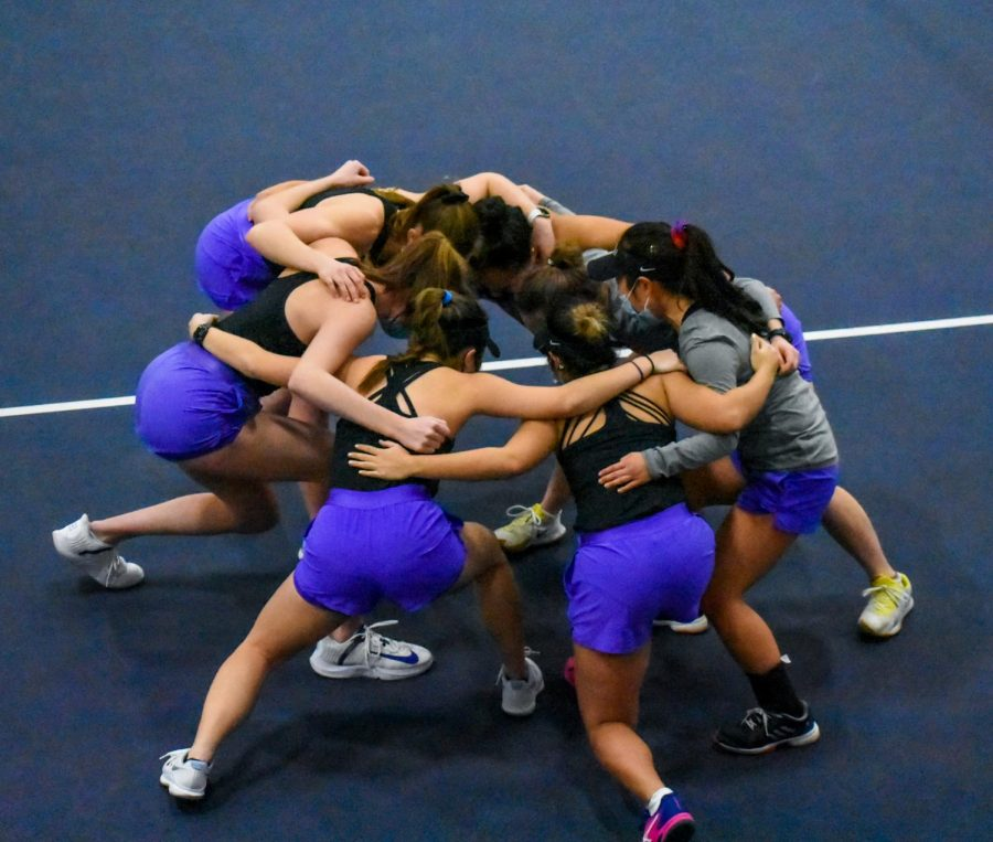 Women's tennis dominated in a 9-0 win over College of Idaho Saturday morning.