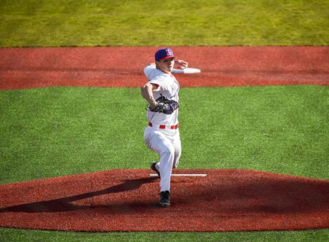 Junior ace Colton Meyer threw four strikeouts in Linfield baseball