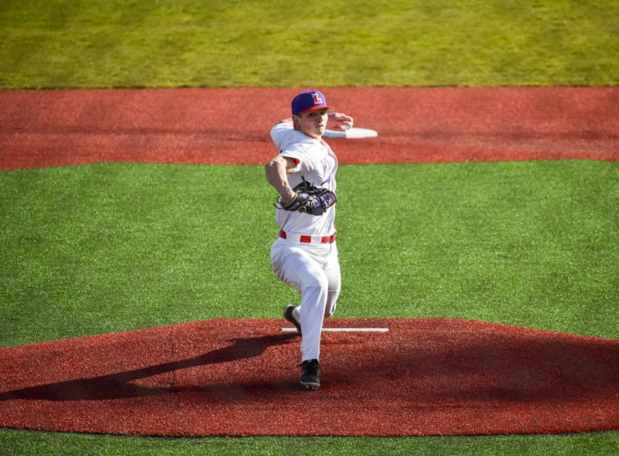 Junior+ace+Colton+Meyer+threw+four+strikeouts+in+Linfield+baseball%27s+home+opener.+