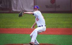 Freshman Gavin Ludlow threw one strikeout in his collegiate debut.