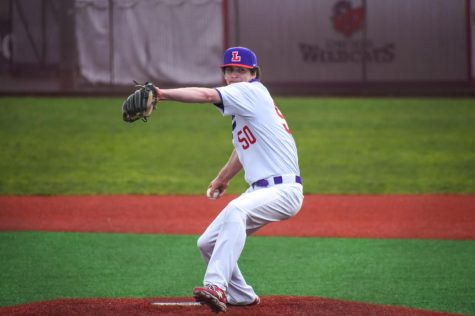 Freshman Gavin Ludlow threw one strikeout in his collegiate debut.