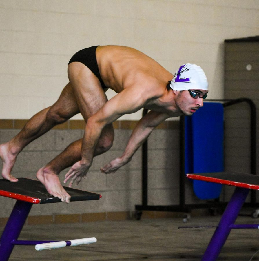 Freshman Cam Wheeler took first in the 400-yard IM.