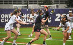 Freshman Emma Vande Brake fights off defenders.