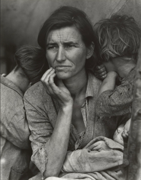 Migrant Mother, Nipomo, California March 1936. By Dorthea Lange. From the Museum of Modern Art http://www.moma.org
