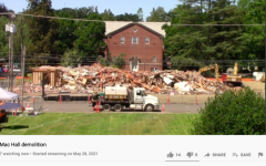 Linfield offered a livestream of the demolition of Mac Hall on YouTube. This is the progress as of midday  on Wednesday, June 23.