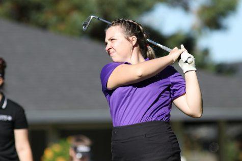 Linfields leading scorer Raegan Barr on her follow-through.